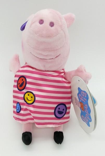 Peppa Pig Peppa Wutz Plüsch Kuscheltier ca 20cm - Gestreiftes Kleid