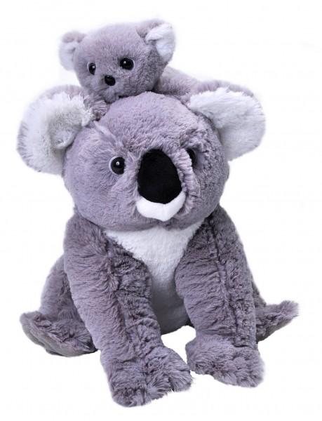 Wild Republic 24087 Koala mit Baby Mutter & Kind ca 30cm Plüsch Kuscheltier