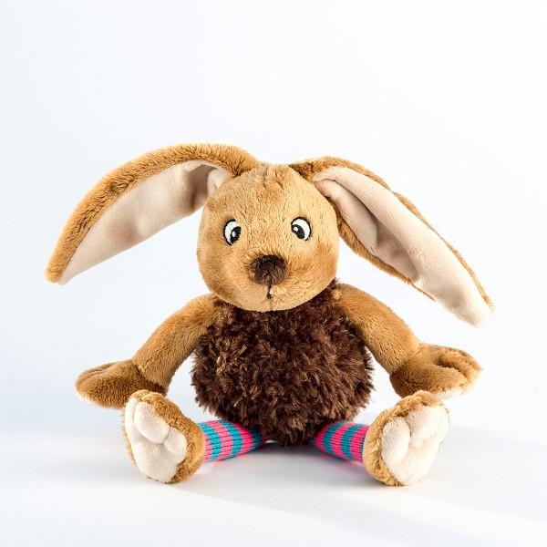 Schaffer 5418 Funny Bunny Hase ca 20cm Plüsch Kuscheltier Socke pink-blau