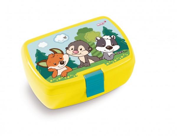 Nici 45464 Brotdose Lunchbox Forest Friends Babys Fuchs, Otter, Dachs