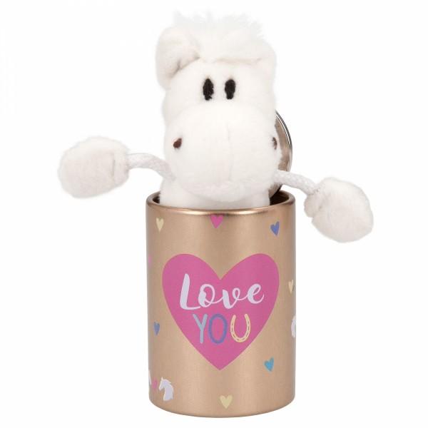 Depesche 8110 Pferd Miss Melody Plüsch-Anhänger im Döschen - Love You