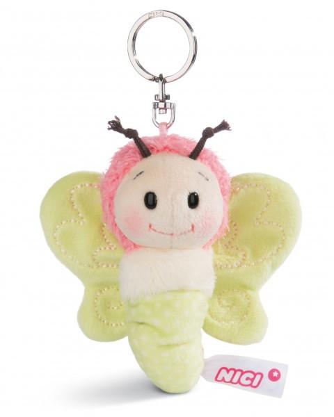 Nici 44931 Schlüsselanhänger Schmetterling ca 10cm Plüsch Hello Spring - grün