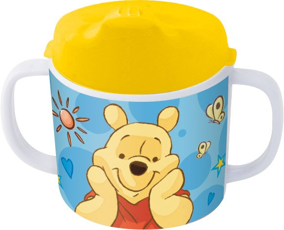 p:os 68939088 Winnie Pooh Trinklernbecher mit Schnabeldeckel