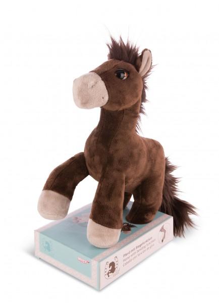 Nici 41382 braunes Pferd Starfinder mit biegbaren Gelenken ca 30cm Plüsch