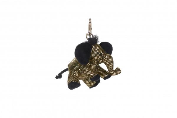 Schaffer 2703 Schlüsselanhänger Anhänger Glitz & Glamour Elefant gold ca 8cm