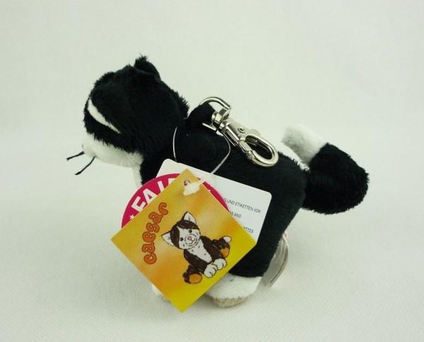Schaffer 0226 Schlüsselanhänger Plüsch schwarze Katze Caesar ca 10cm