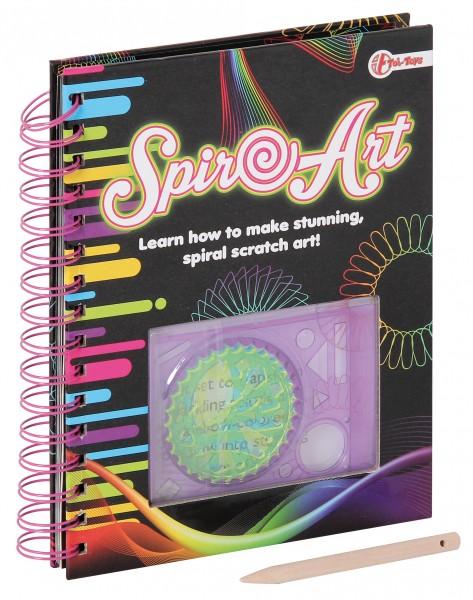 Kratzpapier Spiralbuch Spiro-Art Kreativer Malspaß + Schablonen 111188