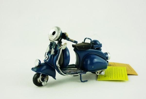 Blechmodell Mini-Roller Motorroller ca 11,5x5,5x7,5cm 904444 blau