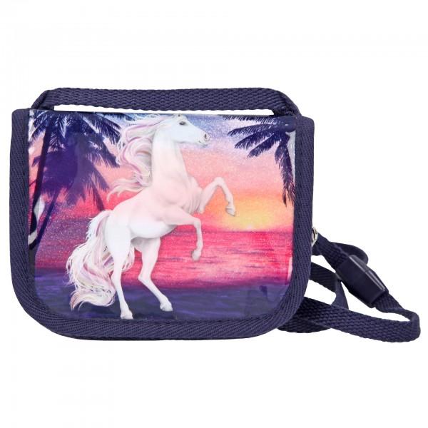 Depesche 10586 Pferd Miss Melody Brustbeutel Geldbeutel Glitter Ocean