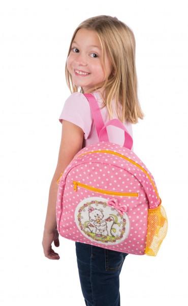 Nici 43359 Kindergarten-Rucksack Bär kleine Schwester rosa 24x25x10cm