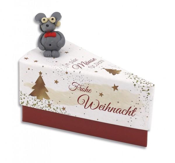 Geschenkschachtel Tortenstück - Ein paar Mäuse für dich / Weihnachten 8079