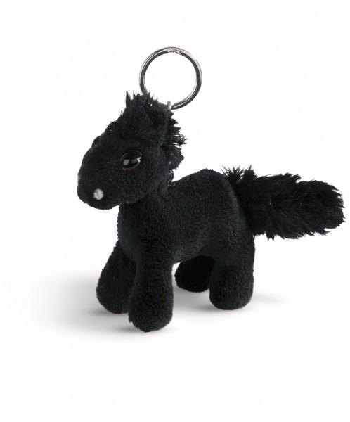 Nici 44891 Schlüsselanhänger schwarzes Pferd Black Cassis stehend ca 10cm Plüsch
