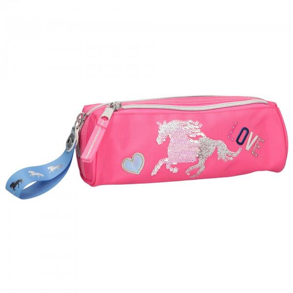 Depesche 10606 Miss Melody Schlampertasche Pink mit Streichpailletten