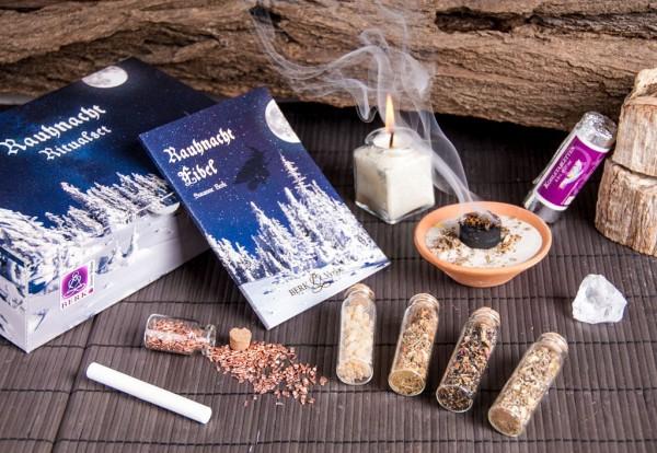 Berk HS-999 Rauhnacht Ritualset - Rauhnachtfibel Räucherwerk Kerze & Zubehör