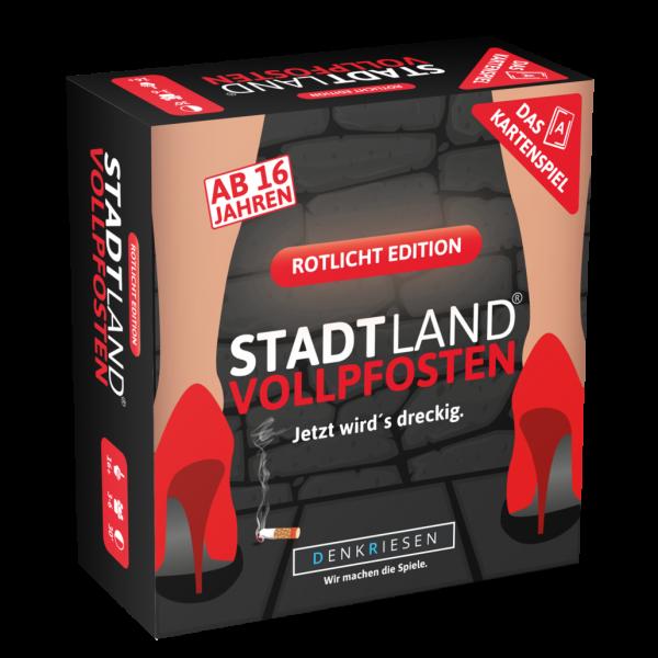 Stadt Land Vollpfosten Rotlicht Edition Das Kartenspiel ab 16 Jahren Reisespiel