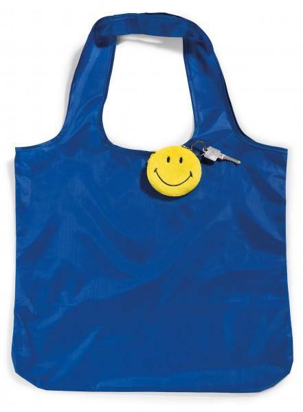 Nici 41533 Smiley Schlüsselanhänger 8cm mit integrierter Shopping Bag Einkaufstasche