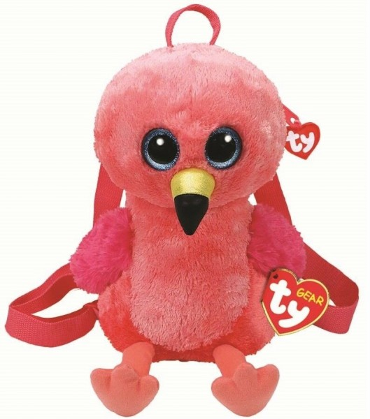 TY Gear Plüsch Rucksack Flamingo Gilda ca 34cm Kindergartenrucksack