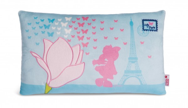 Nici 44280 Kissen Schaf Jolly Journey in Paris Magnolien Eifelturm Schmetterlinge