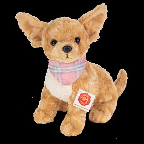 Teddy Hermann 91948 Hund Chihuahua mit Halstuch ca. 27cm Plüsch