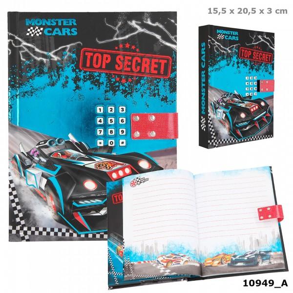 Depesche 10949 Monster Cars Tagebuch mit Geheimcode & Sound Auto