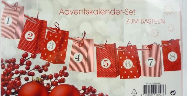 Adventskalender-Set zum Basteln und Befüllen Zischka Papierwaren 30-teilig
