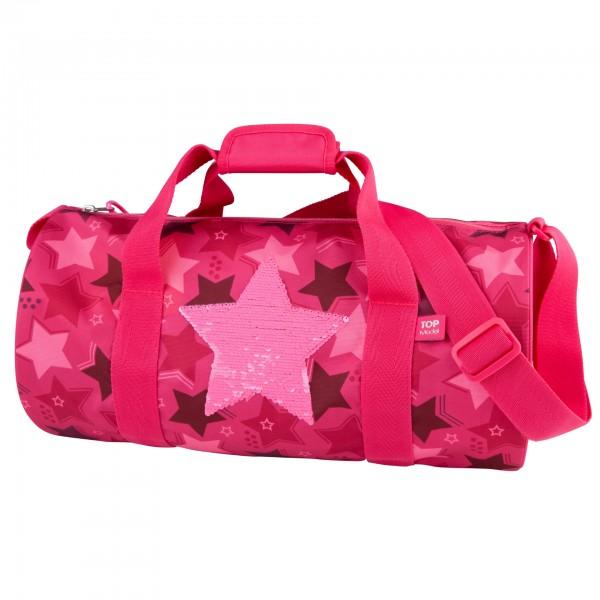Depesche 10720 TOPModel Sporttasche Streichpailletten Stern pink
