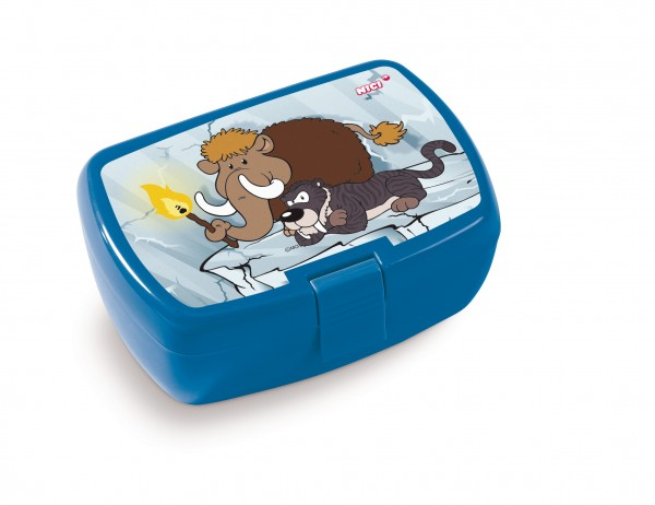 Nici 45462 Brotdose Lunchbox Stone Age Friends Mammut & Säbelzahntiger