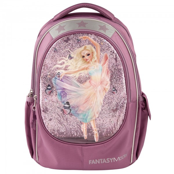 Depesche 10911 Fantasy Model Schulrucksack Rucksack Ballett Ballerina lila