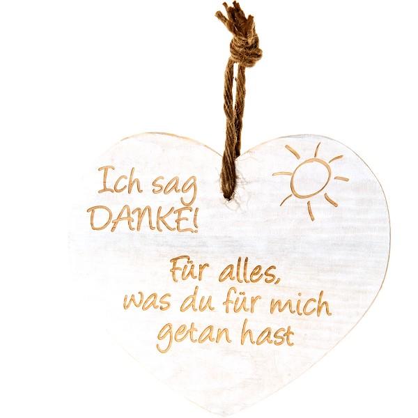 """Vintage-Herz aus Holz """"Ich sag Danke! Für alles was Du für mich..."""" 21017"""