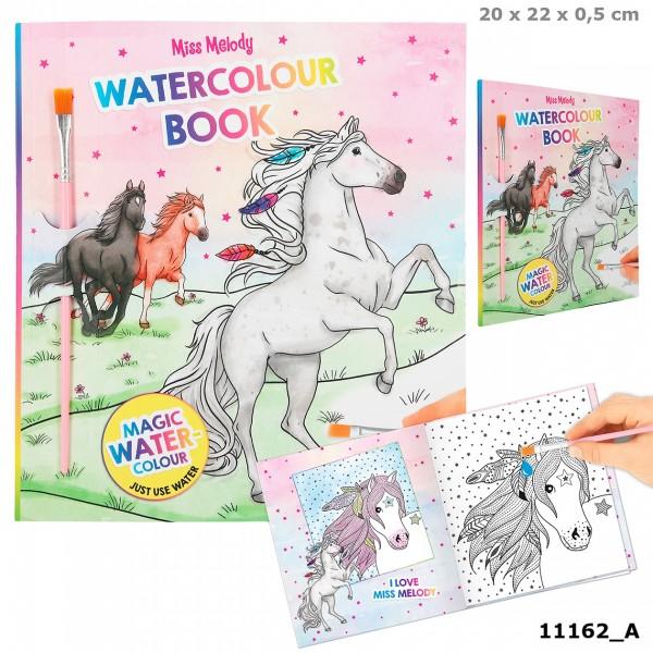 Depesche 11162 Pferd Miss Melody Water Colours Book Malbuch mit 30 Ausmal-Seiten
