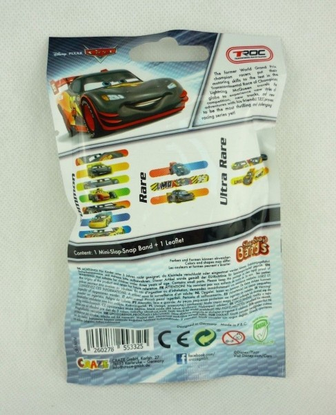 Disney Pixar Cars Mini Slap Snap Bands Sammeltüte Armband