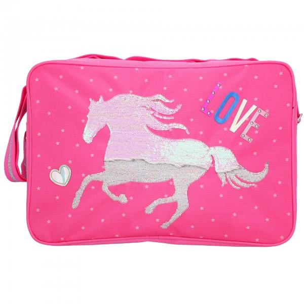 Depesche 10605 Pferd Miss Melody Umhängetasche Schultertasche pink