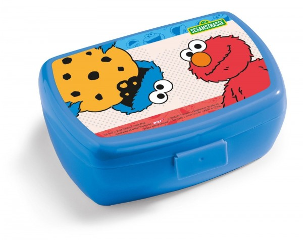 Nici 41872 Brotdose Lunchbox Sesamstrasse Krümelmonster & Elmo 17 x 12 x 6,8 cm