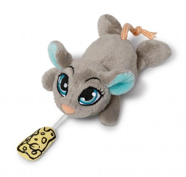 Nici 37760 Sweet Hearts graues Maus mit Bewegungschip ca 12cm Plüsch
