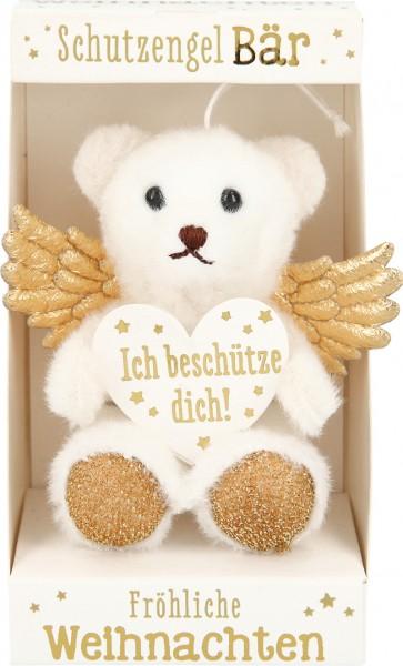 Depesche 10256 weihnachtlicher Schutzengelbär in der Box - Ich beschütze dich