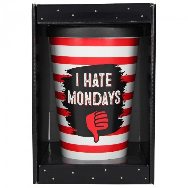 Depesche 2180 -26 To-Go-Becher 350ml I Hate Mondays