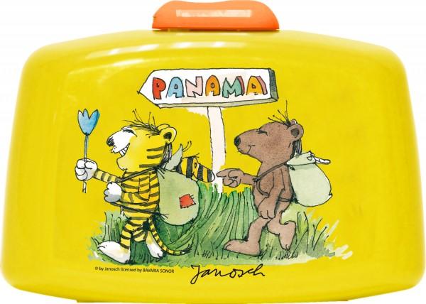 """p:os 66081 Janosch Brotdose Premium mit Einsatz gelb """"Panama"""""""