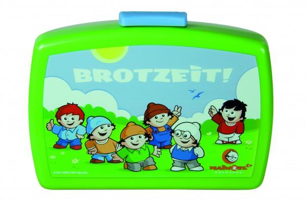 """p:os 23152 Mainzelmännchen Brotdose Premium mit Einsatz """"Brotzeit"""""""