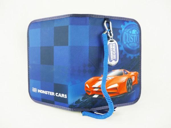 Depesche 6528 Federtasche deluxe Monster Cars blau gefüllt + Taschenlampe