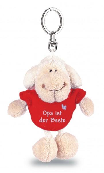 "Nici 31550 Schlüsselanhänger Schaf weiß T-Shirt rot ""Opa ist der Beste"" ca 10cm"