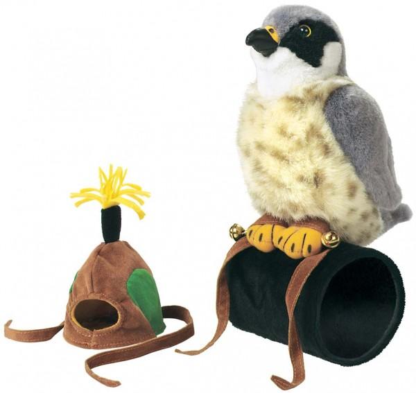 Wild Republic 79885 Falke mit Mütze und naturgetreuem Ton Plüsch ca. 18 cm