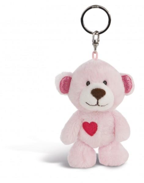 Nici 44420 Schlüsselanhänger Love Bär Schwester mit Herz rosa ca 10cm Plüsch