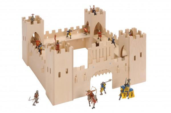 Bätz Holzspielwaren 180146 große Ritterburg aus Holz ca 75x75x37cm