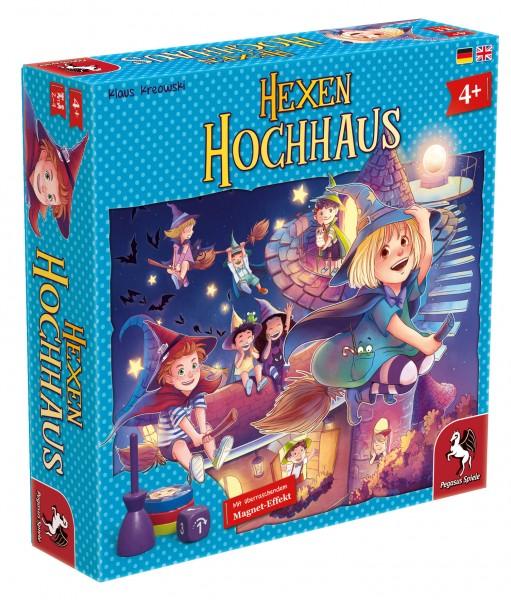 Hexen Hochhaus Kinder Brettspiel für 2-4 Spieler ab 4+ Pegasus Spiele 66024G