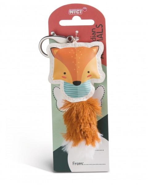 Nici 45583 Guardian Animals Fuchs braun 12cm Taschenanhänger Kunstleder