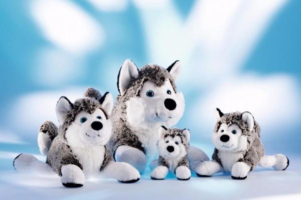 Schaffer 4741 Schlittenhund Polarhund Husky ca 24cm Kuscheltier Plüschtier