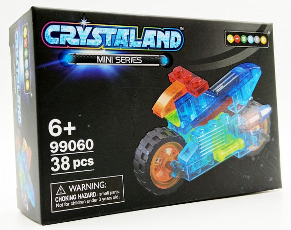 N-Brix Crystaland Mini Series Bausteine - 99060 Motorrad (38 Teile)