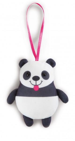 Nici 40867 Anhänger Panda Jolly Mäh mit rosa Schlaufe ca 11cm Plüsch