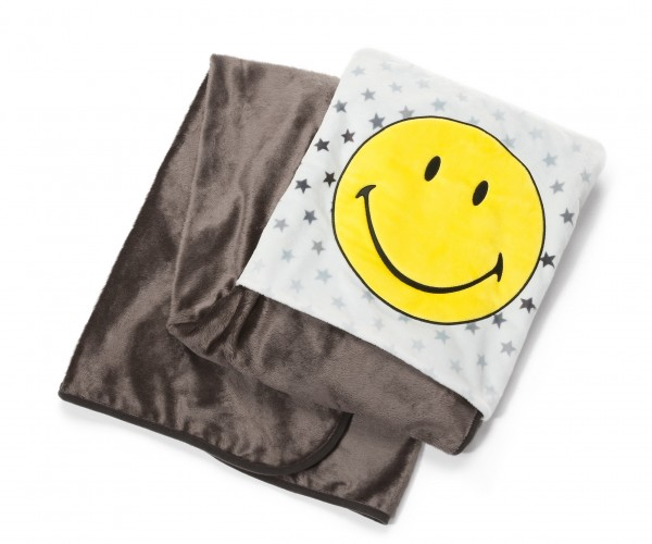 Nici 40726 Plüschdecke Smiley Happy Collection ca 144x120cm