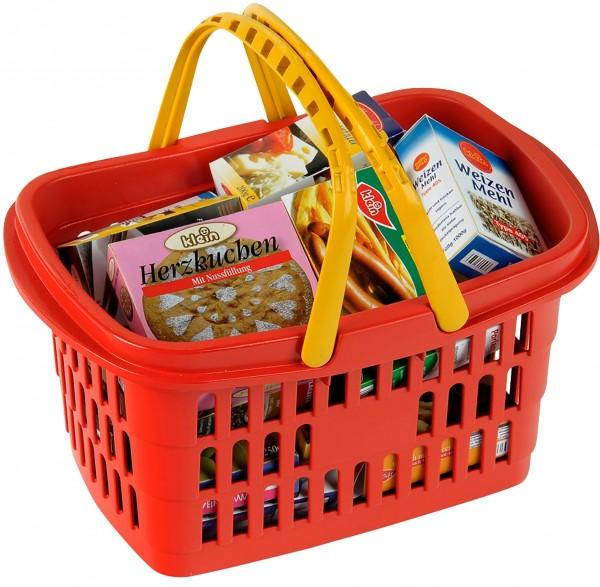 Einkaufskorb gefüllt mit Zubehör für Lebensmittelladen über 20 Teile 9693